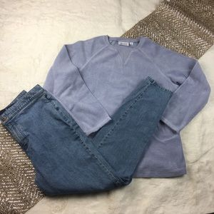 Denim & Company French Terry Top jeans leggings S